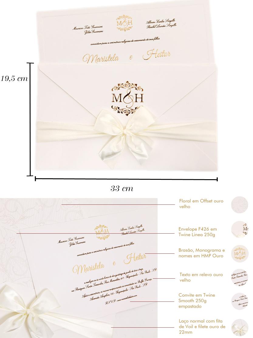 Convites de casamento Platinum – Maristela