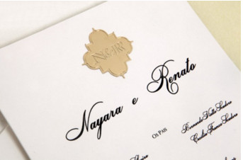 Convites de casamento Platinum – Nayara