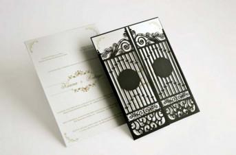 Convites de casamento com corte Laser – Portão