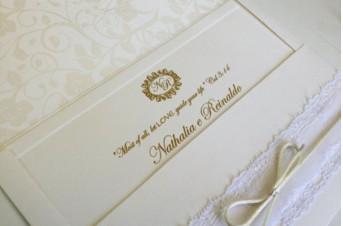 Convites de casamento Rendado – Reynaldo
