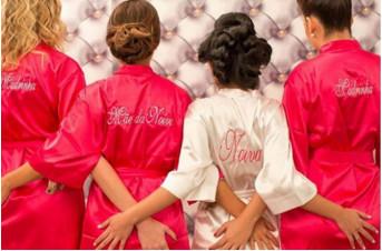 Convite para Madrinha Robe de Cetim