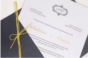 Convites de casamento Platinum – Sabrina