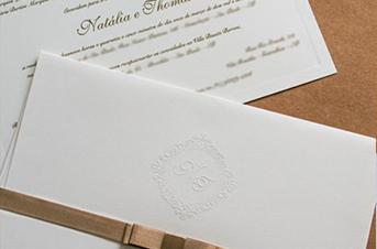 Convites de casamento tradicionais – Thomas