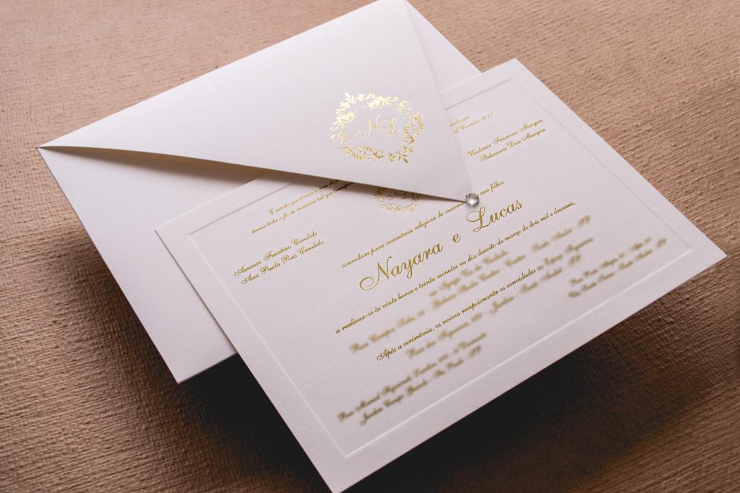 Convites de casamento tradicionais – Lucas