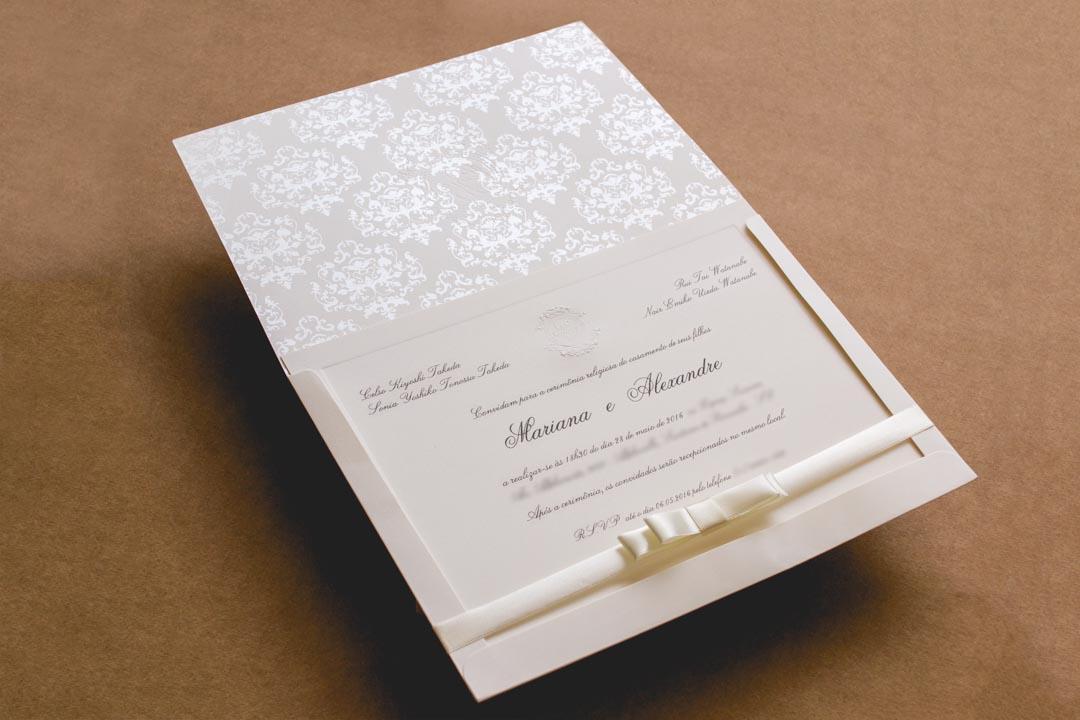 Convites de casamento tradicionais – Mariana