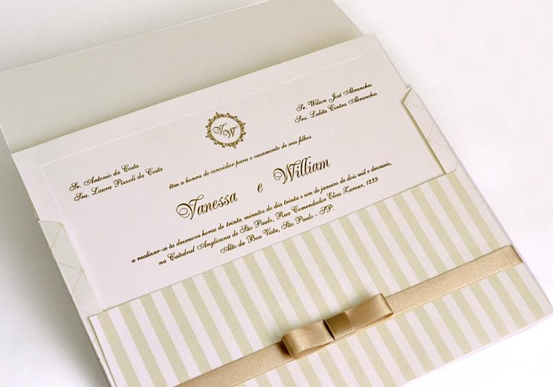 convites simples de casamento