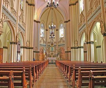 Convites de casamento em belo horizonte - basilica nossa senhroa de lourdes