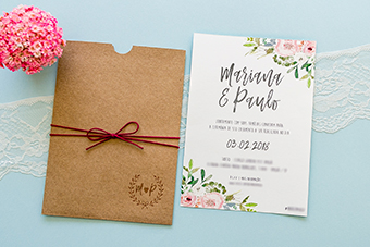 Convites de casamento no campo Paulo