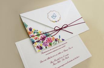 Convites de casamento tradicionais – Lorenza