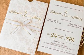 Convites de casamento Modernos - Jonny