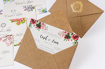 Convites de casamento Rústico - Luan