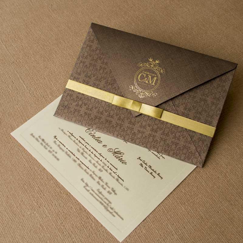 Convite de casamento Rústico - Cintia