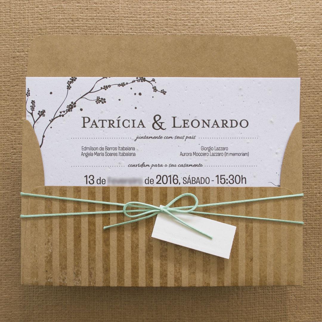 Convite de casamento r stico patricia for Papel de pared rustico