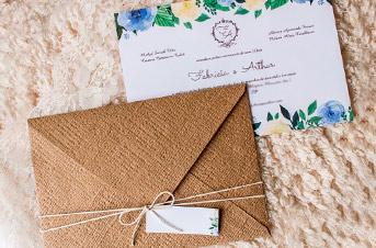 Convites de casamento Rústico - Arthur
