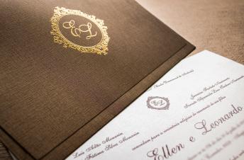 Convites de casamento rustico - Ellen