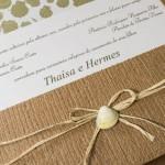 Convite de casamento rustico para casamento na praia – Thaisa (2)