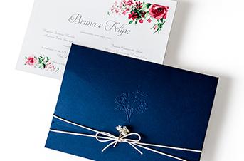 Convites de casamento no campo - Marine