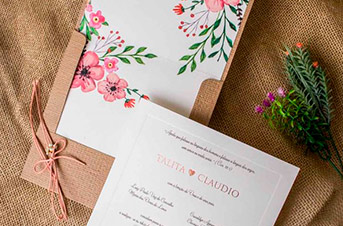 Convites de casamento Campo - Talita