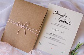 Convites de casamento no campo - Gabriel