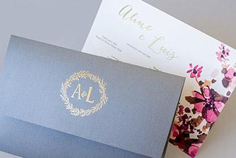 Convites de casamento Campo - Aline