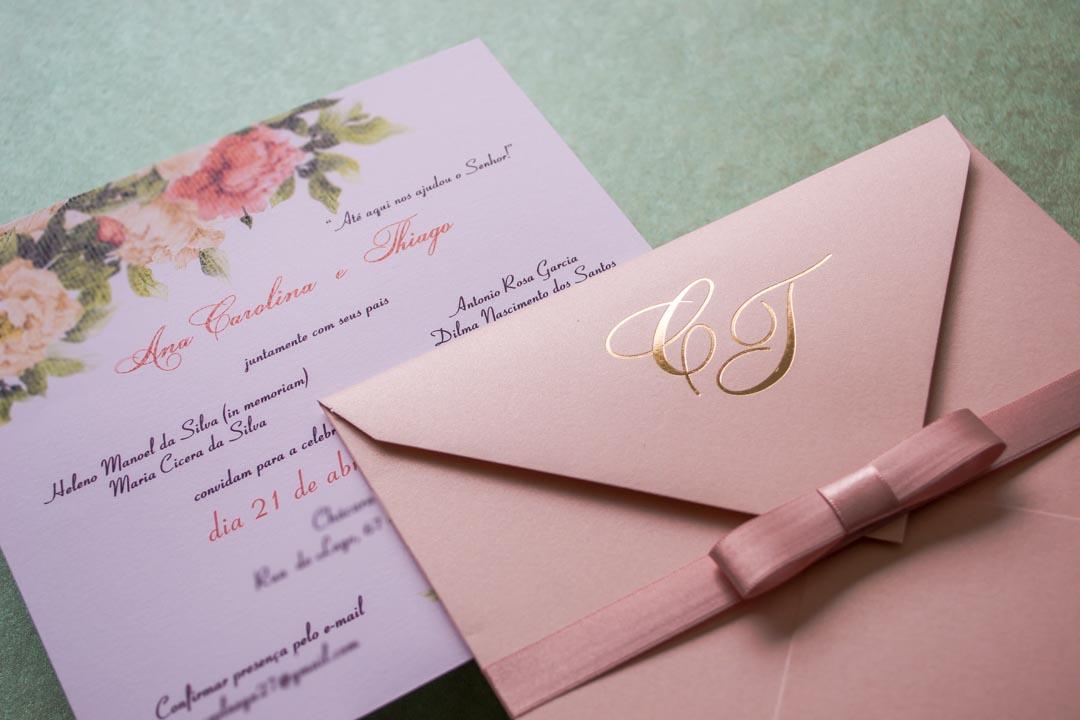Convites de casamento no campo Ana carolina