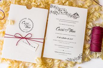 Convites de casamento no campo - Theo