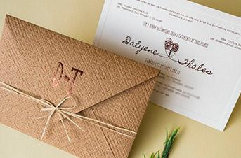 Convites de casamento tradicionais – Tales