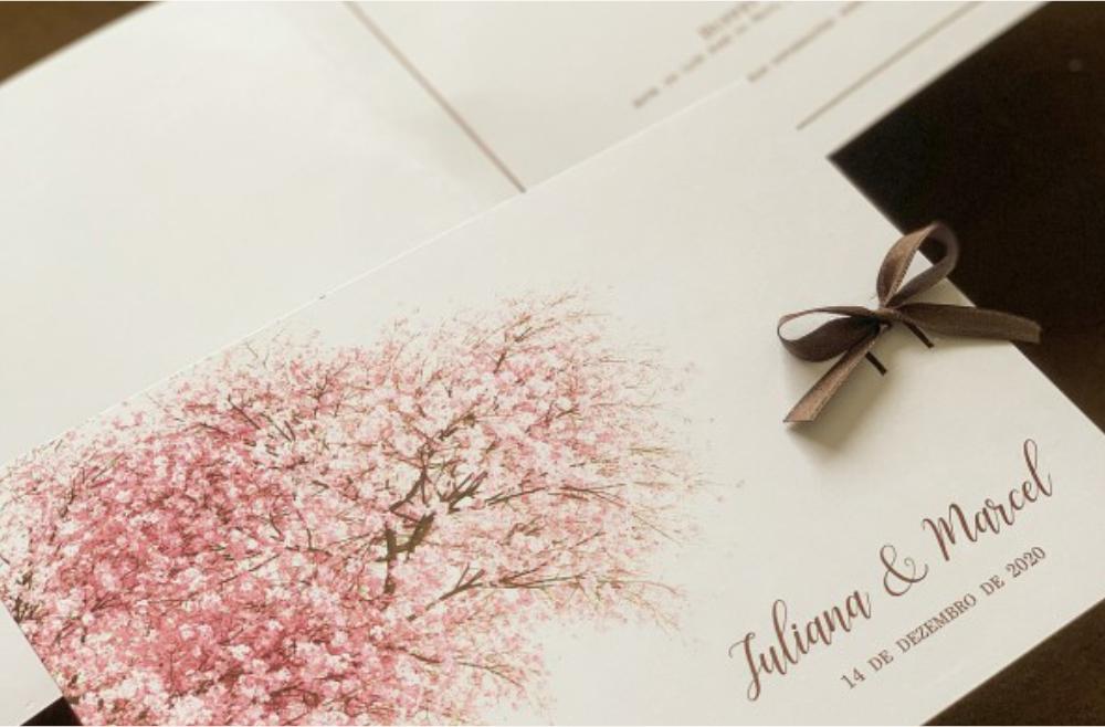 Convites de casamento no campo Arvore