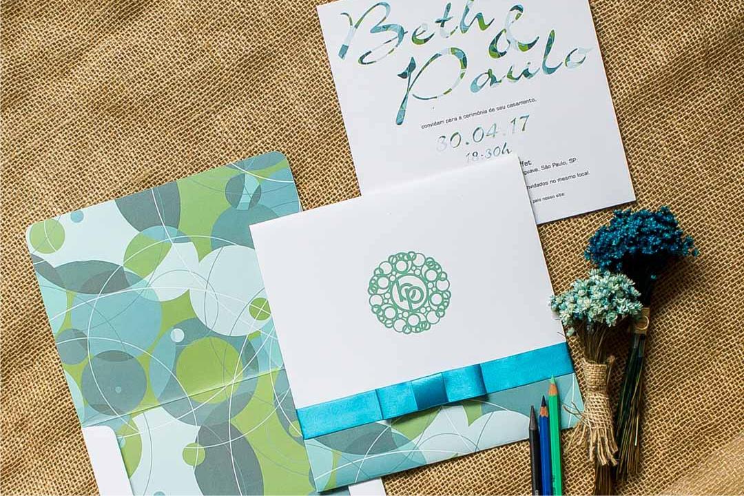 Convites de casamento moderno - União