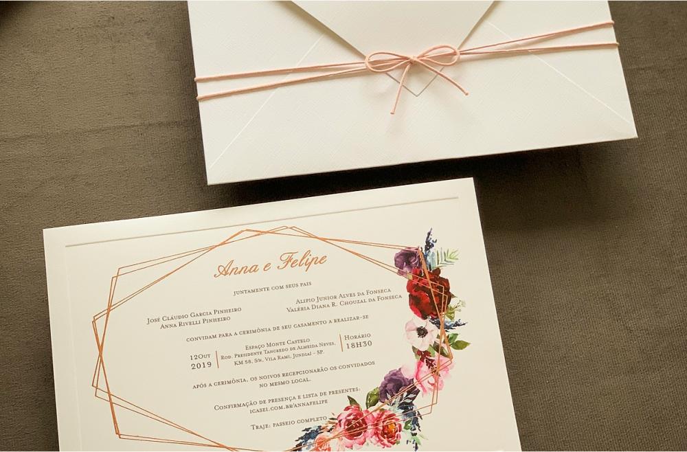 Convites de casamento Modernos - Anna