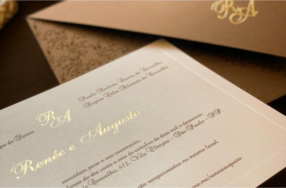 Convites de casamento Modernos - Augusto