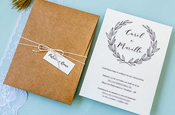 Convites de casamento no campo Carol