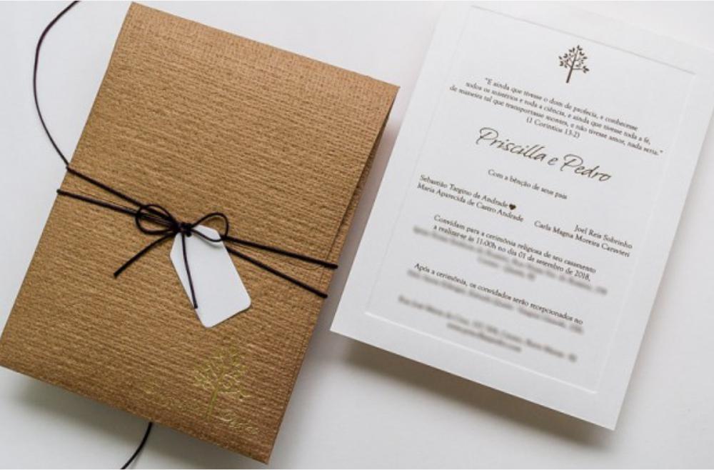 Convites de casamento no campo Caio