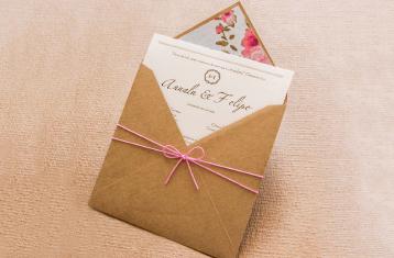 Convites de casamento Campo - Gustavo