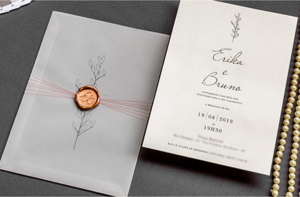 Convites de casamento Modernos - Erika