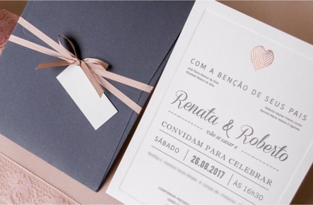 Convites de casamento Modernos - Roberto