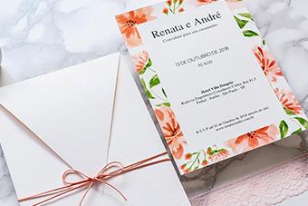 Convites de casamento Coral