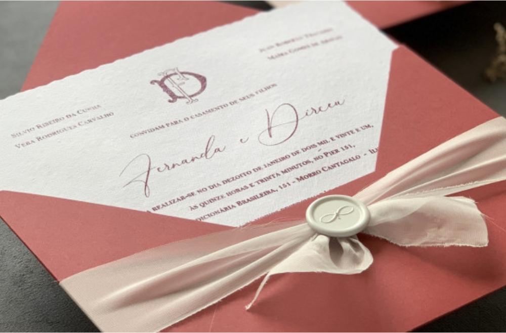 Convites de casamento Modernos - Dirceu