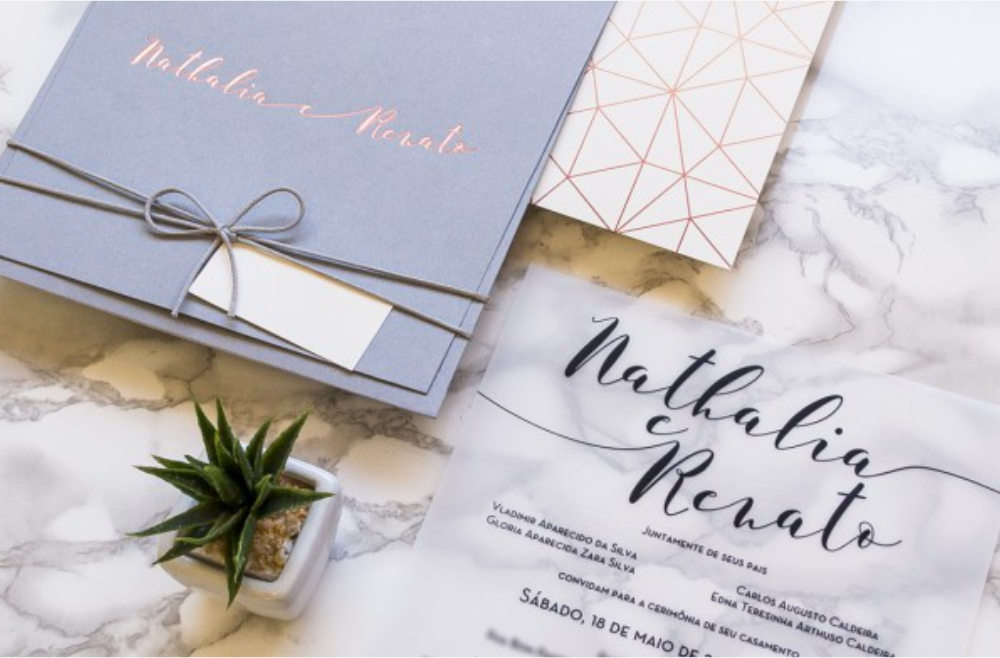 Convites de casamento Modernos - Geométrico