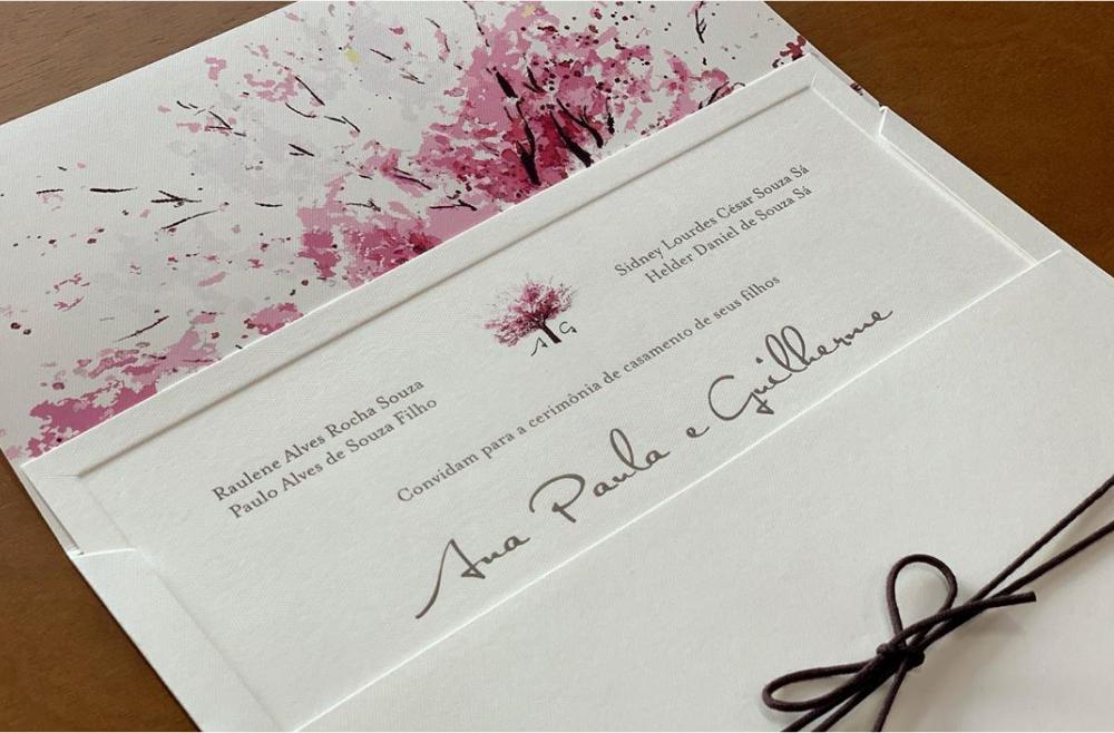 Convites de casamento no campo Guilherme