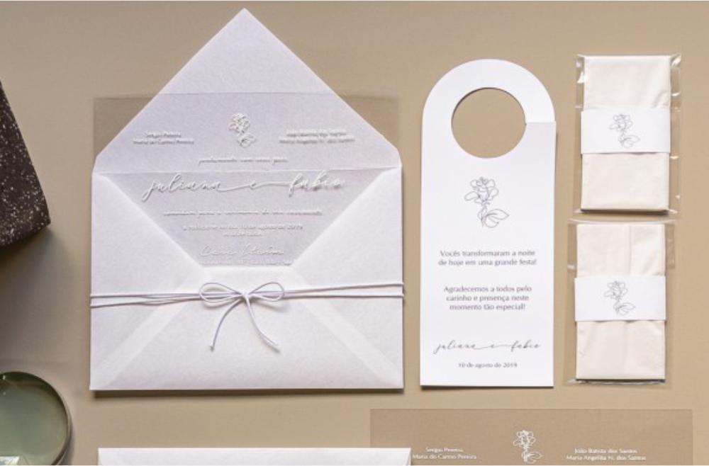 Convites de casamento Modernos - Juliana