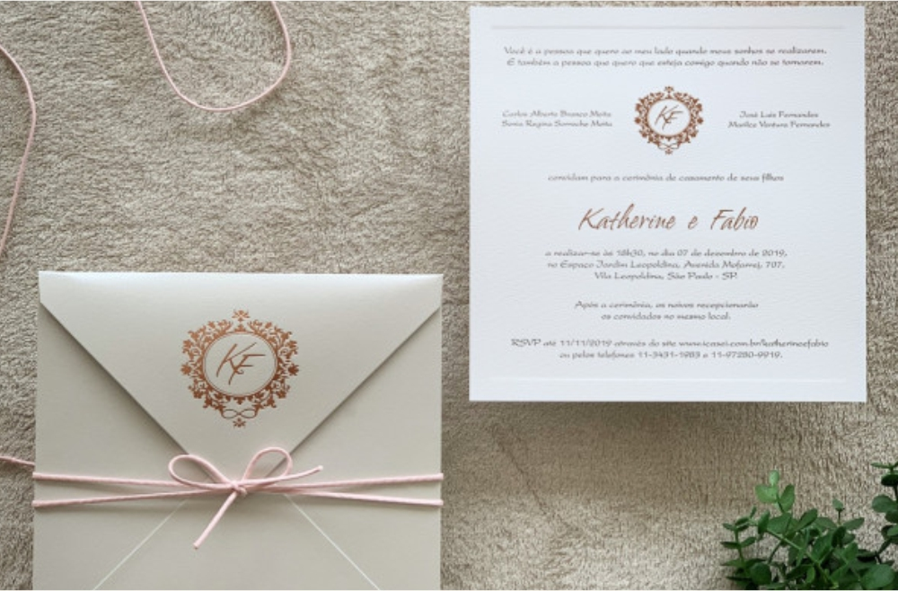 Convites de casamento Modernos - Katherine
