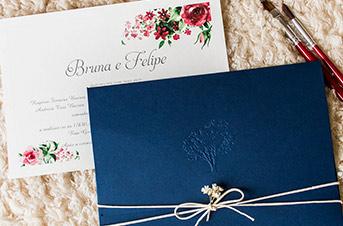 Convites de casamento Modernos - Marine
