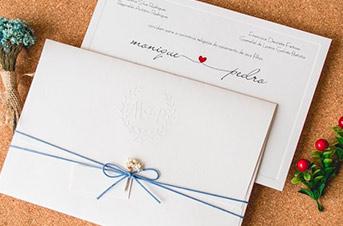 Convites de casamento rustico - Monique