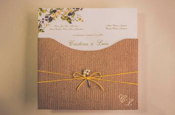 Convites de casamento Campo - Luiz