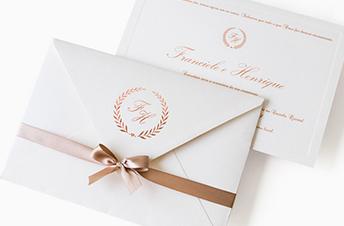 Convites de casamento moderno – Rosa Nude