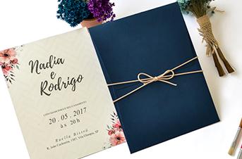 Convites de casamento Rústico - Nadia