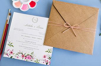 Convites de casamento no campo Convite rústico