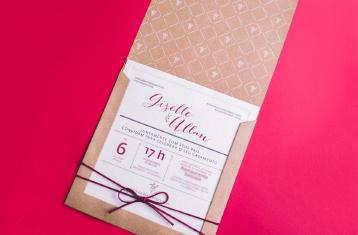 Convites de casamento Campo - Giselle