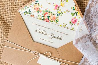 Convites de casamento no campo Rustico Chic